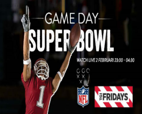 Live Super Bowl bij TGI Fridays