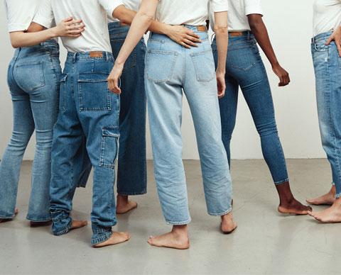 Jeans på mennesker.