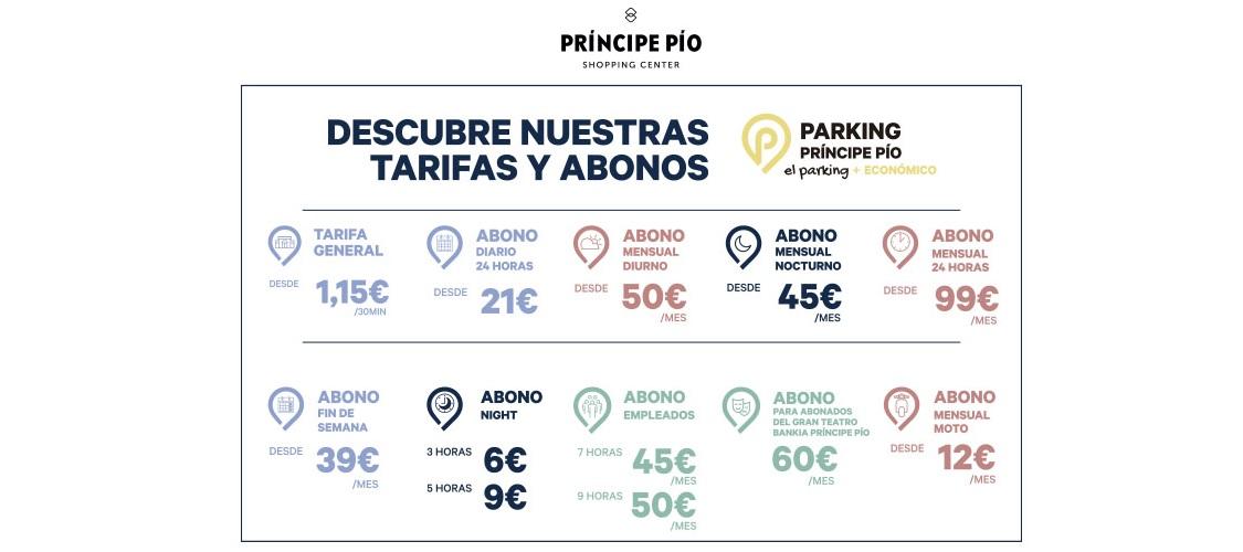Tarifas parking
