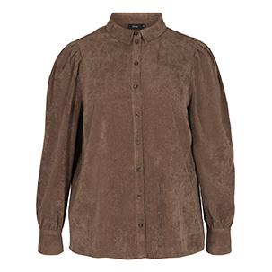 brun skjorta med puffärm