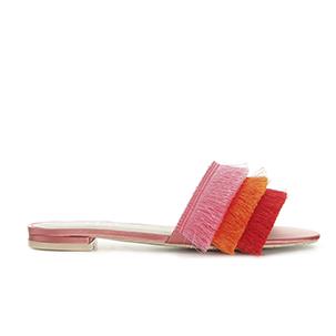 Sandal med rosa, orange och röd ovansida