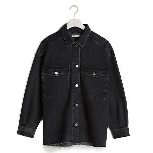 Svart skjortjacka