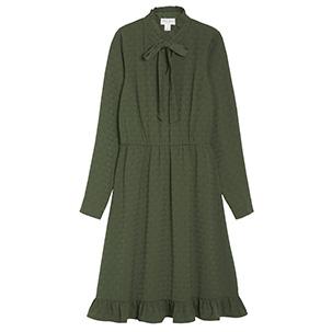 Grön klänning med volang